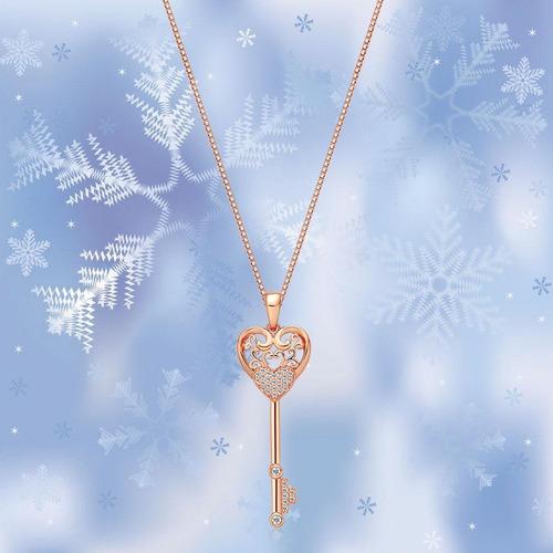 ¿christmas gifts¿ - ado glo  key to heart  love pendant rose