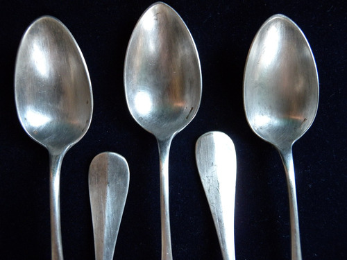 christofle 5 cucharas para postre modelo fidelio antiguos
