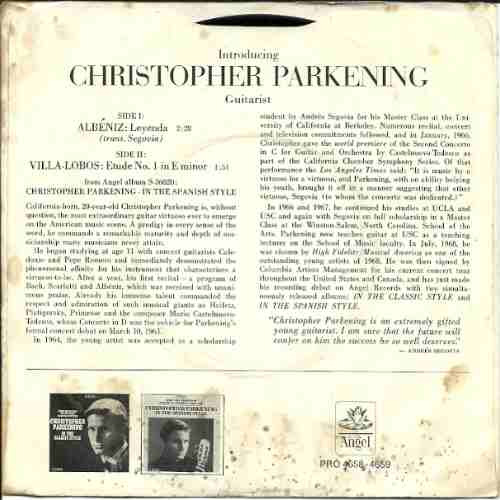 christopher parkening - compacto - albéniz
