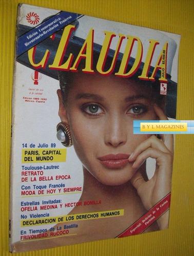 christy turlington revista claudia 1989