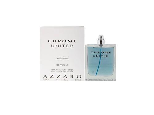 chrome united edt 100 ml tester (h) - azzaro/ multimarcas