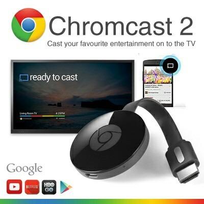 chromecast 2 google 2017, convierte tu tv led en smart tv.