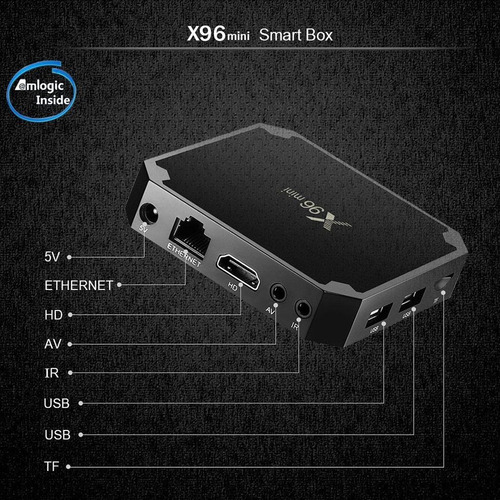 chromecast caja android 7.1 tv box  x96mini kodi17.6 regalia