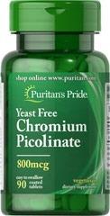 chromium picolinate 800mcg 90 tabletas picolinato cromo usa