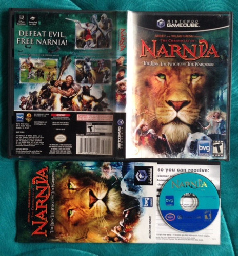chronicles of narnia cronicas / disney  / gamecube gc &  wii