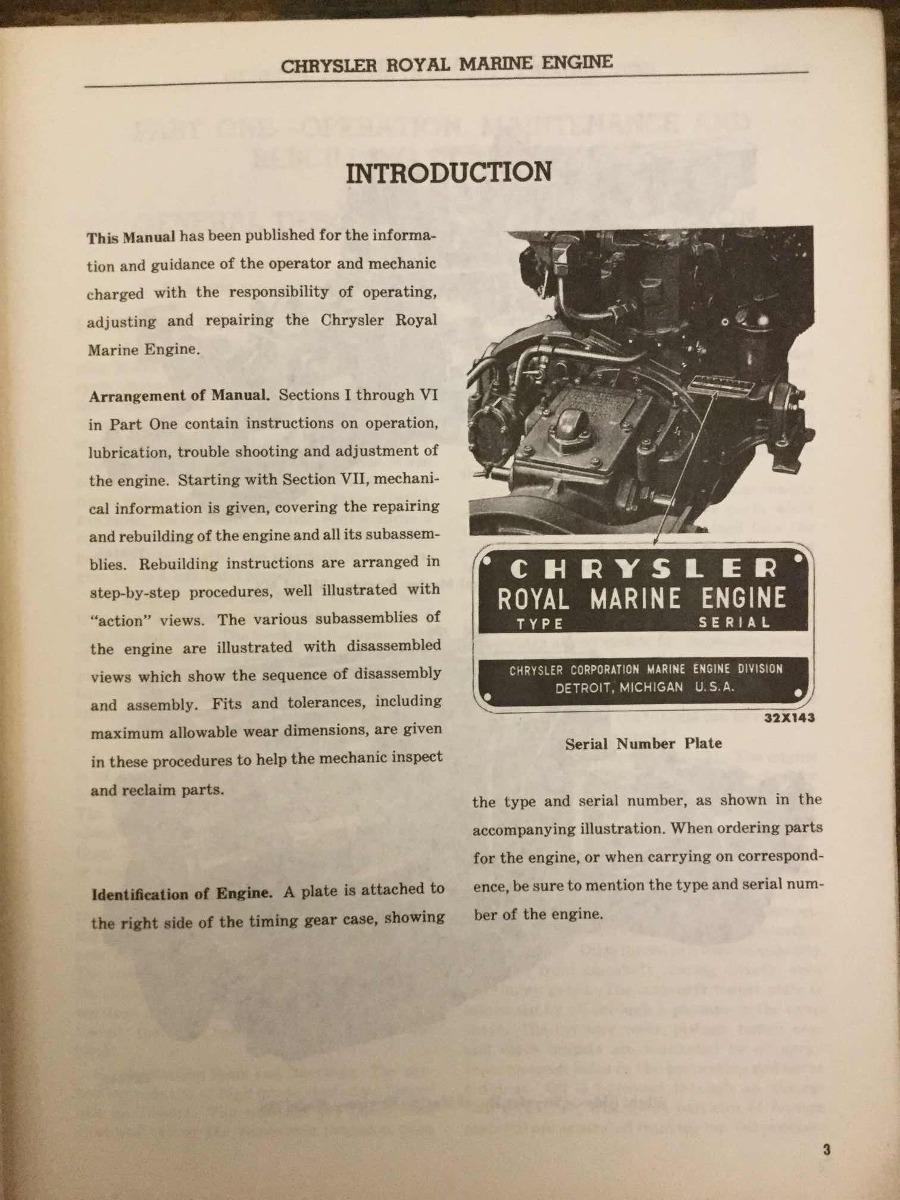 chrysler marine engine serial numbers