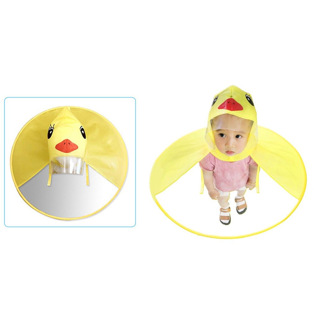 nueva llegada Productos materiales de alta calidad Chubasquero Infantil Ufo Manos Libres Bebé Pato Lluvia Abrig