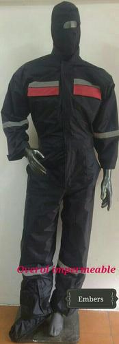 chubasquero nylon impermeable con forro interno vulcanizado