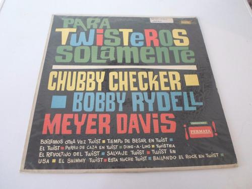 chubby checker bobby rydell para twisteros -vinilo argentino