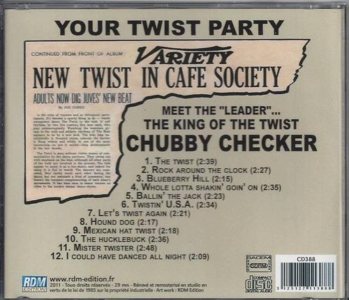 chubby checker - your twist party - cd lacrado - importado