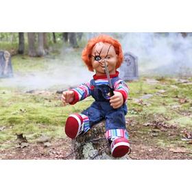 Chucky Muñeco Diabolico Grande Con Movimiento Y Fraces