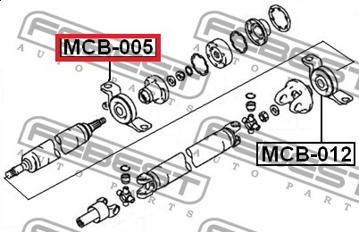 chumasera puente de cardan outlander 2002 a 2006 #mr953922