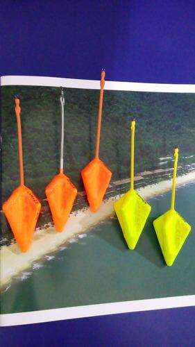 chumbadas pesca de praia emborrachadas  (kit com 5 )