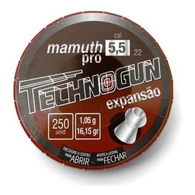 Chumbinho 5,5 Mamuth Pro Ponta Oca Caça Technogun C/ 250und