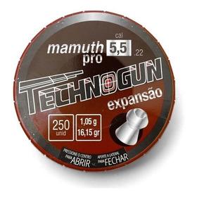 Chumbinho Mamuth Pro 5,5 Technogun 250 Unidades