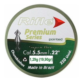 Chumbinho Rifle Premium Series Pointed 5,5mm 250pçs 19,90gr