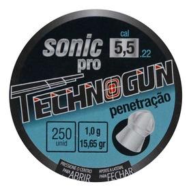 Chumbinho Sonic Pro 5,5 Technogun 250 Unidades