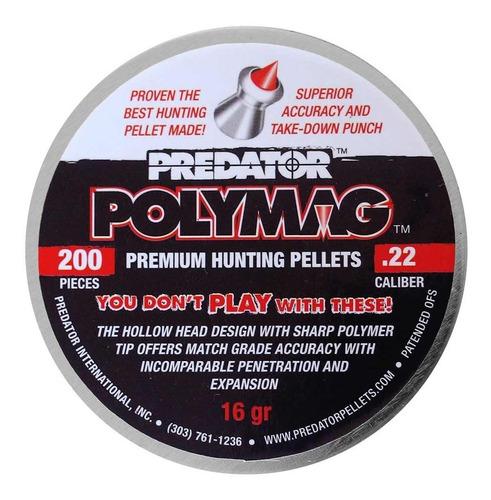 chumbinhos 5.5 para caça com ponta de nylon polymag 200un