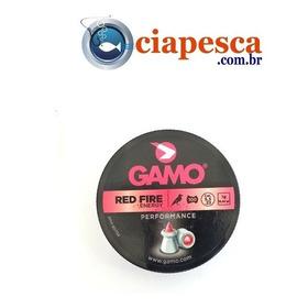 Chumbo Gamo 5.5 Red Fire Energy C/100 Ponta Vermelha