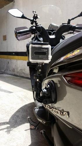 chupa accesorio gopro carro moto vidrio gira 360  -
