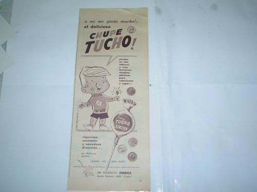chupe tucho de cola hiedra chapita plastica publicidad 1959
