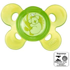 Chupeta Confort Silicone Neutra Verde 12m+ Chicco 74915