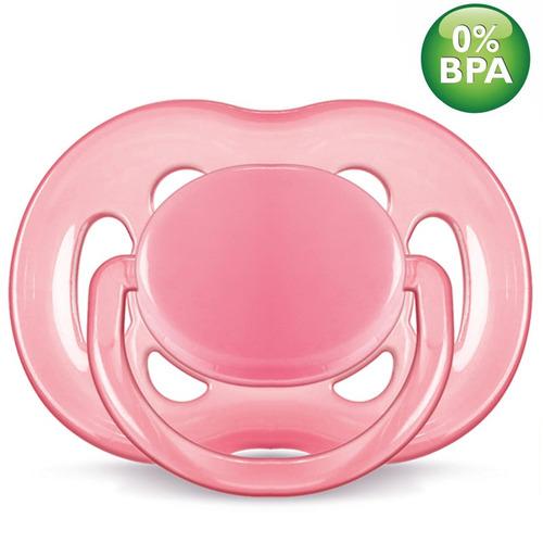 chupeta freeflow bpa free - 6 a 18 meses - rosa - philips av