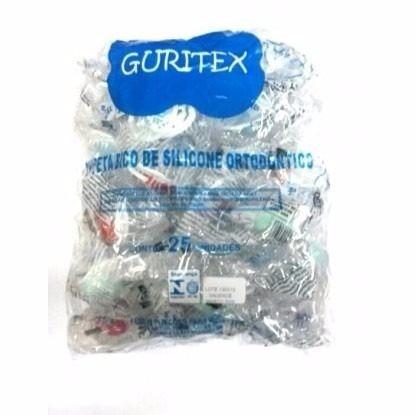 chupeta guritex - pct c/ 25 un - orto - atacado - infantil