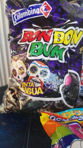 chupetas bon bon bum por caja (15 paquetes de 24und)