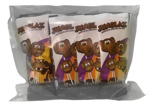 chupetas chocolate junglaz con leche 20g 42% cacao (24 unid)
