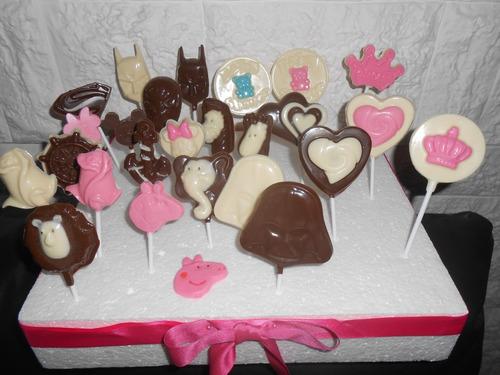 chupetines de chocolate baby shower