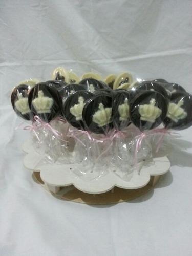 chupetines de chocolate coronas