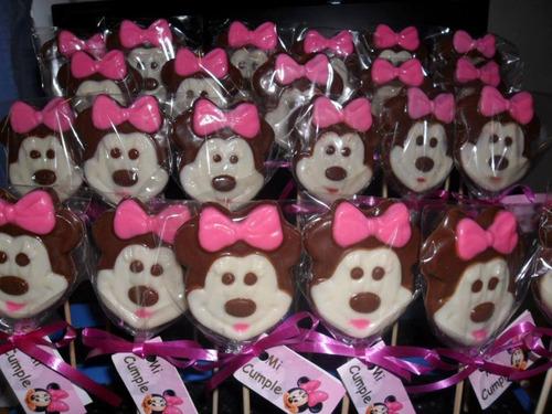 chupetines de chocolate de minnie  1 x