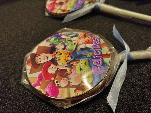 chupetines de chocolate personalizados cumpleaños souvenirs