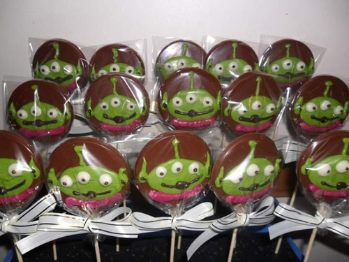 chupetines de chocolate toy story