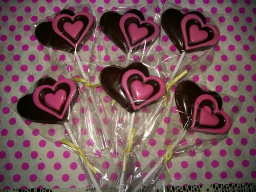chupetines de chocolate x 10 souvenir. candy bar