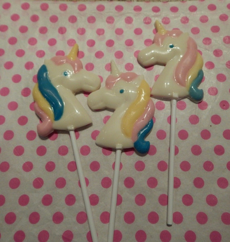 chupetines de chocolate.unicornio. x 10 unidades candy bar