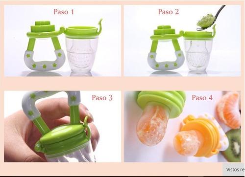 chupón alimentador frutas-verduras + cadena sujetador