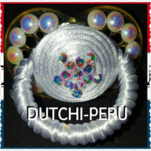chupon decorado con crystallized swarovski elements