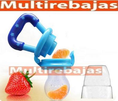 chupon dispensador de frutas y verduras anti ahogo importado