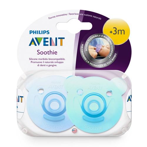 chupón soothie philips avent scf194/04 para bebé +3m 2 pack