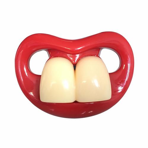 chupones divertidos para bebes dientes grandes