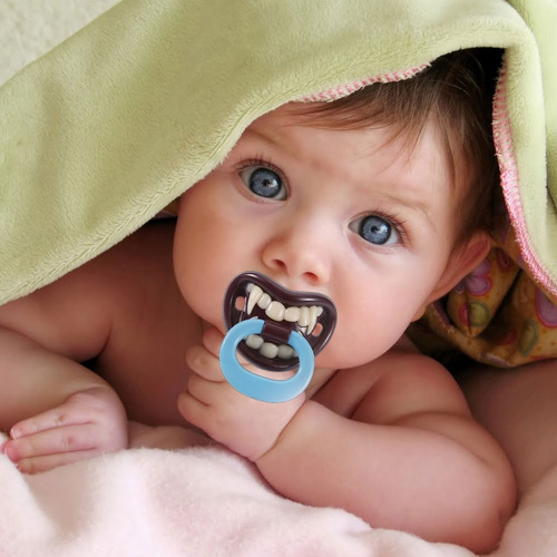 chupones divertidos para bebes vampiro