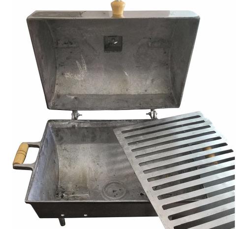 churrasqueira a bafo e grelha também em alumínio fundido !!!