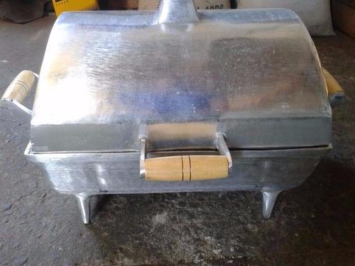 churrasqueira  a bafo em alumínio fundido ( tamanho grande )