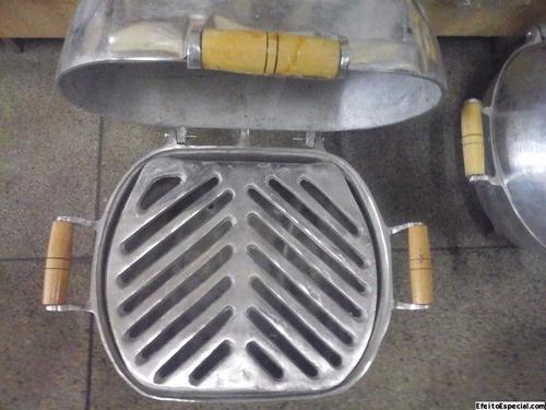 churrasqueira a bafo em alumínio fundido ( tamanho medio )