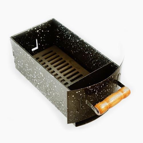 churrasqueira a bafo gás ou carvão apolo 8 preto ed