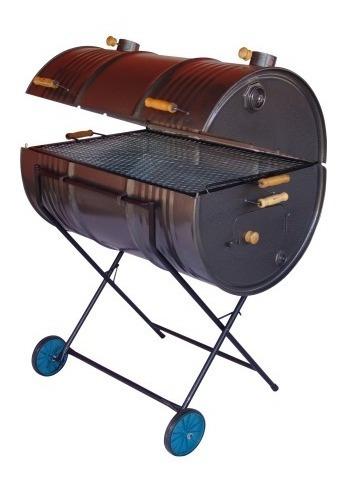 churrasqueira a bafo grill tambor grande 200 litros c/ rodas