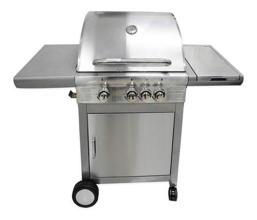 churrasqueira a gás 100% inox 3 queimadores + 1 lateral