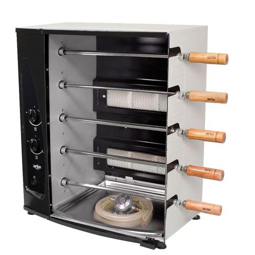 churrasqueira a gás arke agr-05 5 espetos automática